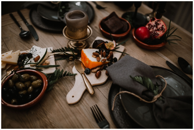 boho wedding shoot zeeland woods dinner table