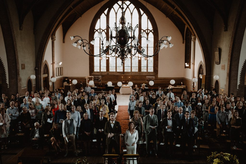 bohemian wedding trouwen ouddorp rotterdam moerkapelle ceremonie grote kerk overschie