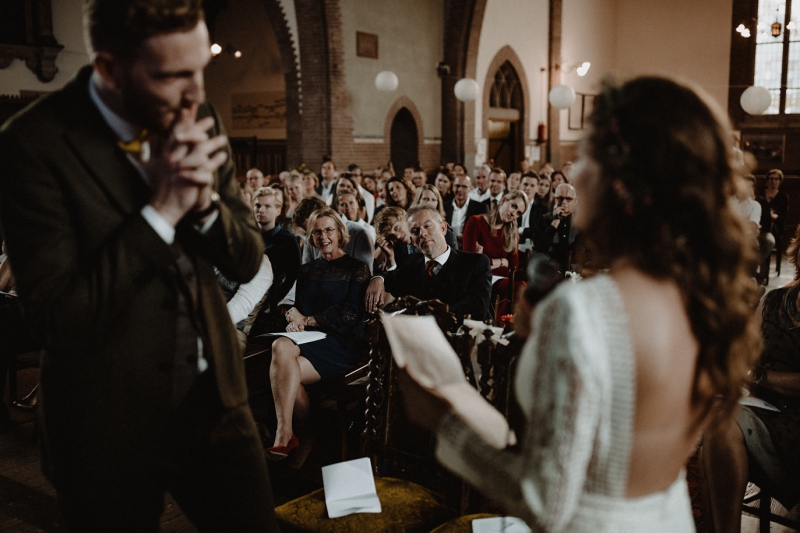 bohemian bruiloft land van belofte moerkapelle ceremonie grote kerk overschie