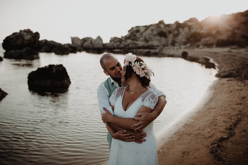 destination wedding sicily italy licata bruiloft buitenland wedding shoot beach sunset
