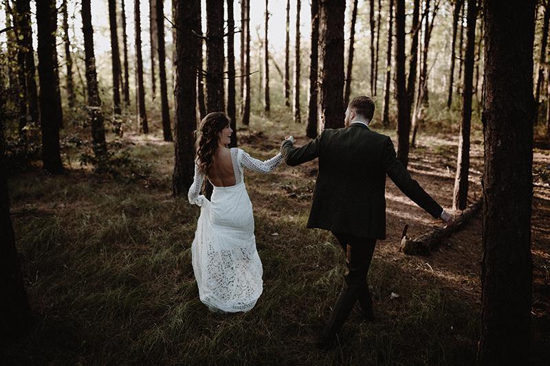 dutch wedding photographer destination wedding weddingshoot woods europe