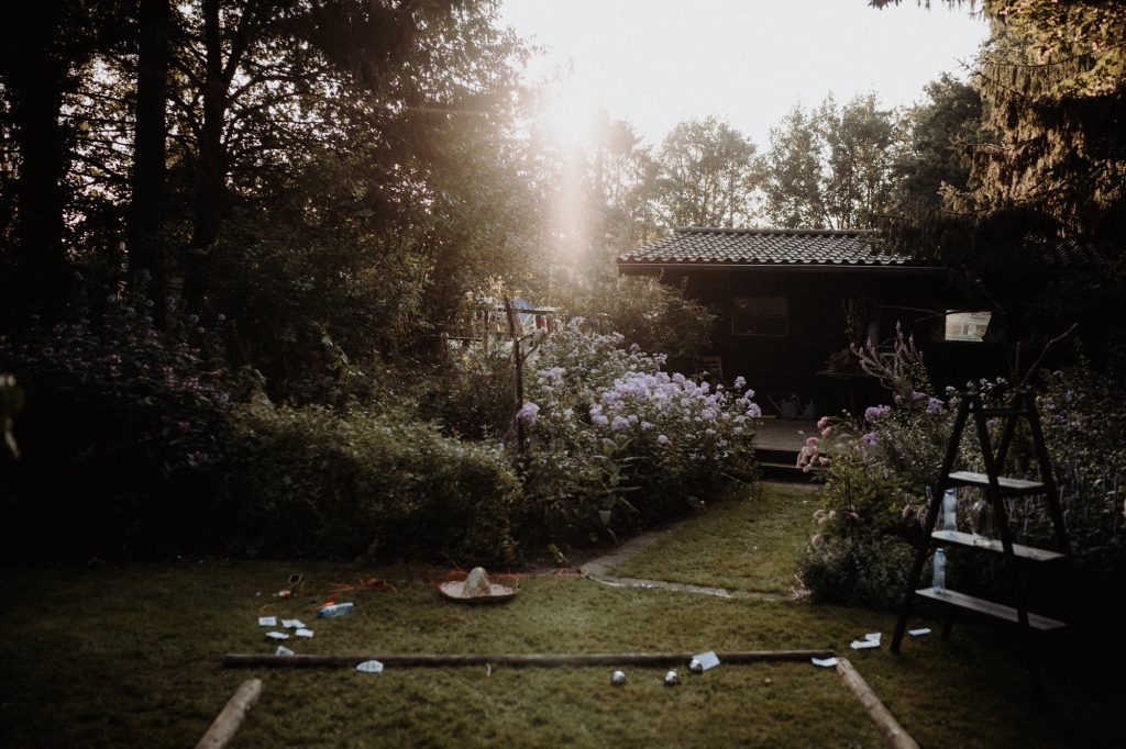 trouwfotograaf veluwe festivalbruiloft tuin receptie