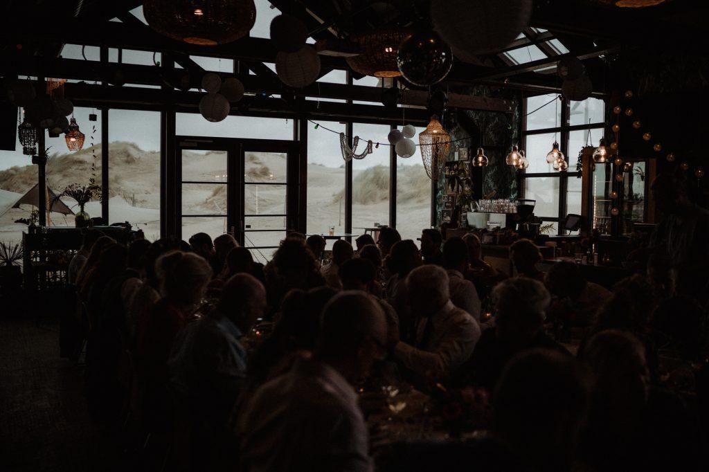 bohemian bruiloft strand aloha beach wijk aan zee diner
