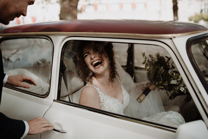 trouwauto fotoshoot bruiloft zeeland